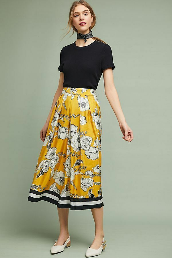 NWT Anthropologie Catriona Cropped Wide Legs Pants by Vineet Bahl Size Large L