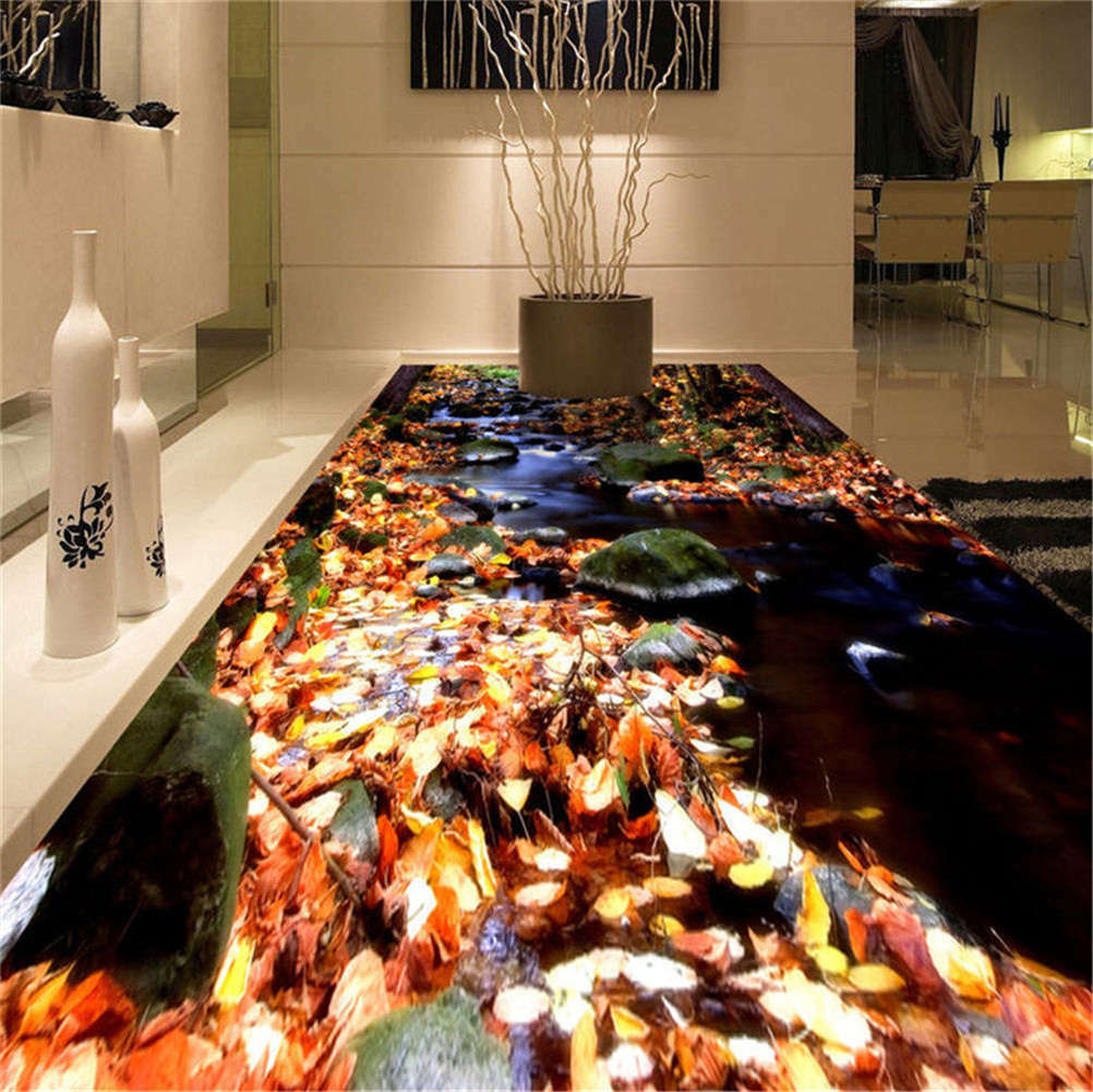 Romantic Rivulet 3D Floor Mural Photo Flooring Wallpaper Home Print Decoration