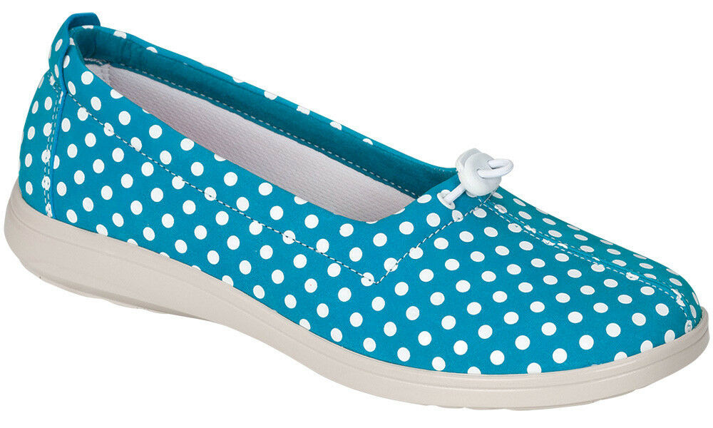 Women's  SAS FUNK, BLUE AGUA Dot  made in USA Slip On Loafers