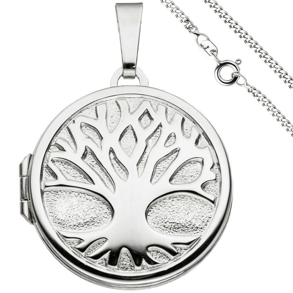 Medaglione Ciondolo Albero della Vita Vita Vita mondi albero circa 925 argentoo con catena 50 cm. a21be6