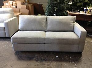 Details About Pottery Barn West Elm Henry Sectional Right Arm Sofa Sleeper Bed Gravel Twill