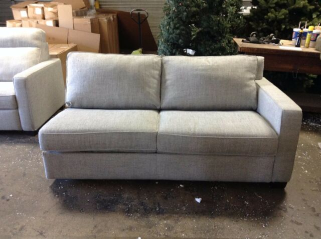 Astonishing Pottery Barn West Elm Henry Sectional Right Arm Sofa Sleeper Bed Gravel Twill Caraccident5 Cool Chair Designs And Ideas Caraccident5Info