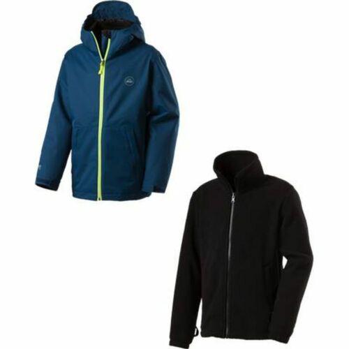 McKinley Kinder Outdoor Freizeit 3in1 Jacke Doppeljacke JUSTIN navy dark grün