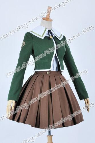 Danganronpa Cosplay Chihiro Fujisaki Costume School Girl Uniform Dress Good Sell