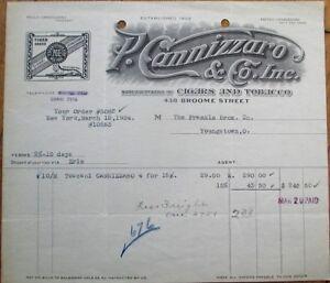 Toscano Italian Cigars 1924 Little Italy Ny Letterhead P