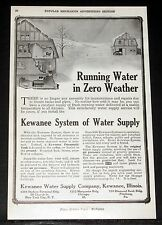 1909 OLD MAGAZINE PRINT AD, KEWANEE SYSTEM OF WATER SUPPLY, IN ZERO WEATHER!