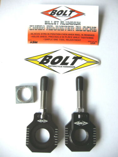 Bolt Chain Adjusters Axle Blocks KTM Black XCW XC-W EXC 13 14 15 16 17 18 NEW
