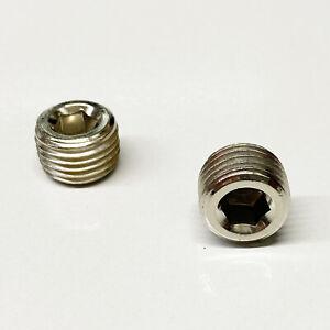 "Speed Unlimited 4543 Chrome Internal Allen Head Pipe Plugs 1/4"" NPT"