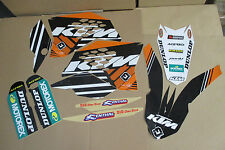 FLU  D. Team KTM PTS Graphics SX SXF 07 08 09 10 & EXC XC XCF XC 08 09 10 11 BLK
