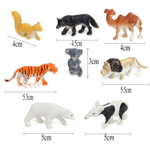 8Pcs Farm Animals Models Figure Set Toys Plastic Simulation Horse Dog Kids 0cn