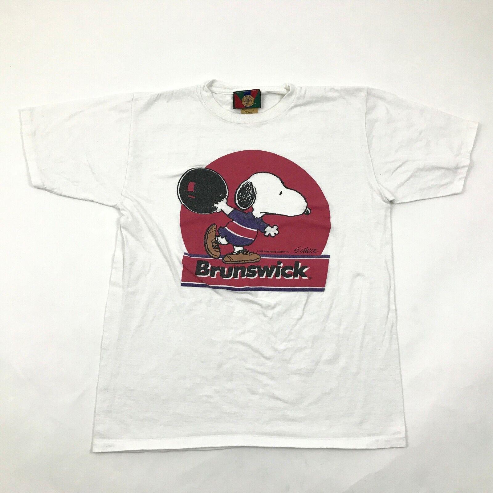 52080a219 VINTAGE Snoopy Shirt Size L Large White Tee Single Stitch Shultz 1958 USA  MADE