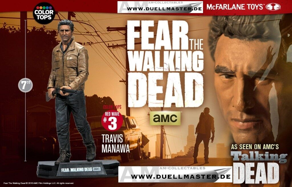 Mcfarlane - Fear the Walking Dead - Travis Manawa Af - Figurine - New