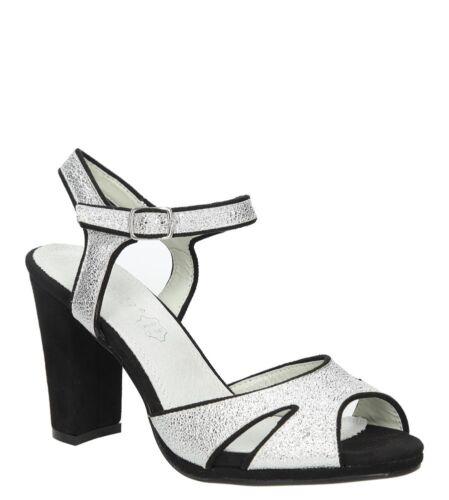 Damen Sandalen LS27702P Sommer Sandaletten Blockabsatz Gr 36-40 SALE