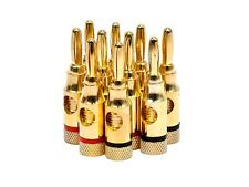 5-Pair/10-Pack Banana Plugs Copper Connector 5.1 Home Theater Speaker Wire Plug