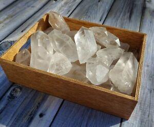 1lb Large Clear Quartz Crystal Points Natural Lot Reiki Yoga US SELLER