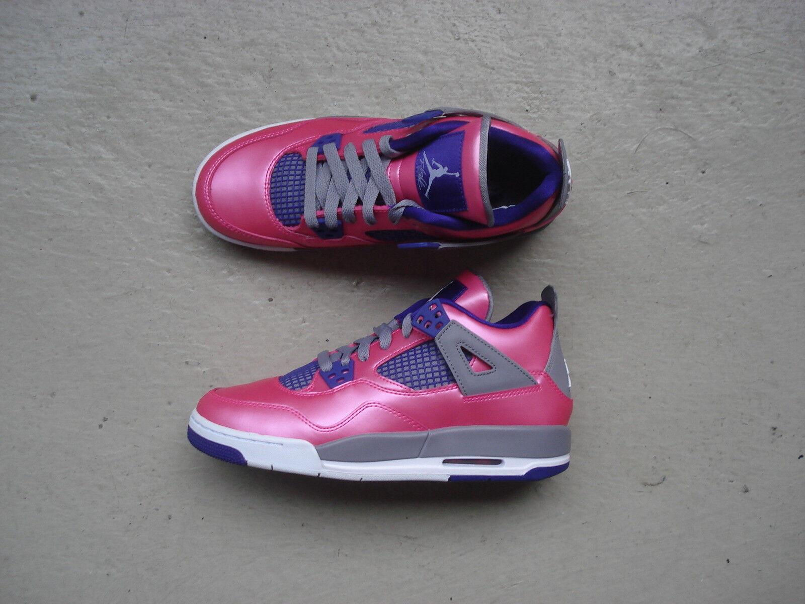 femmes  Nike Air Jordan 4/IV GS 38 rose Foil/ blanc -Cement Gris -Electric Violet