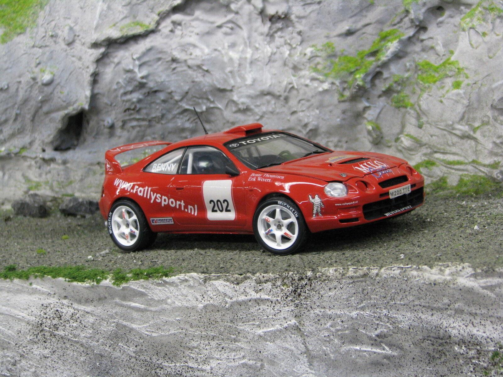 QSP Toyota Celica GT-Four 1995 1:24  202 Wevers / Theunissen ADAC Rallye Oberehe