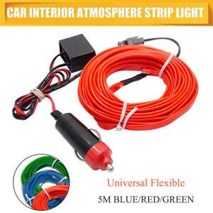 5M-EL-LED-Tubo-Flessibile-Morbido-FILO-NEON-LUCE-CORDA-AUTO-Striscia-Luminosa
