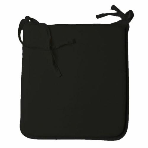 Noir Linens Limited Garnitures De Siège En Mousse Pad Avec Amovible En Polycoton Housse