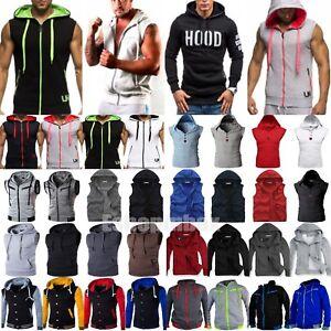 Sudadera-para-Hombre-Informal-Con-Capucha-Camiseta-De-Tirantes-Deporte-Gimnasio