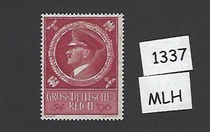 Adolph-Hitler-Mint-stamp-MLH-55th-birthday-1944-Third-Reich-WWII-Germany