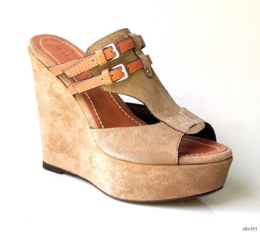 il più recente New  625 BARBARA BUI open-toe taupe suede Marrone leather leather leather WEDGE scarpe 39 9  risparmia il 50% -75% di sconto