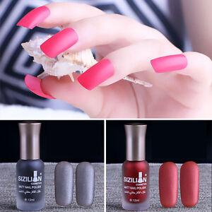 12-Color-Women-Scrub-Nail-Polish-Matte-Long-lasting-Nail-Polish