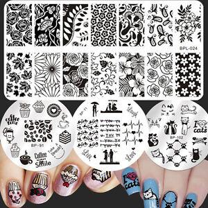 4Pcs-Set-Born-Pretty-Para-Unas-Stamping-Placas-Decoracion-Pasteles-animal-las-plantillas-de-imagenes