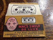 VINTAGE RAZOR BLADE & WRAPPER 'MAC'S SMILE' B
