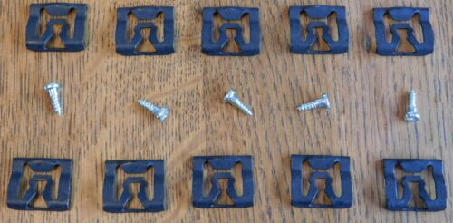 FORD MERCURY 10 NOS WINDOW REVEAL MOLDING CLIPS /& 5 SPECIAL STUD SCREWS