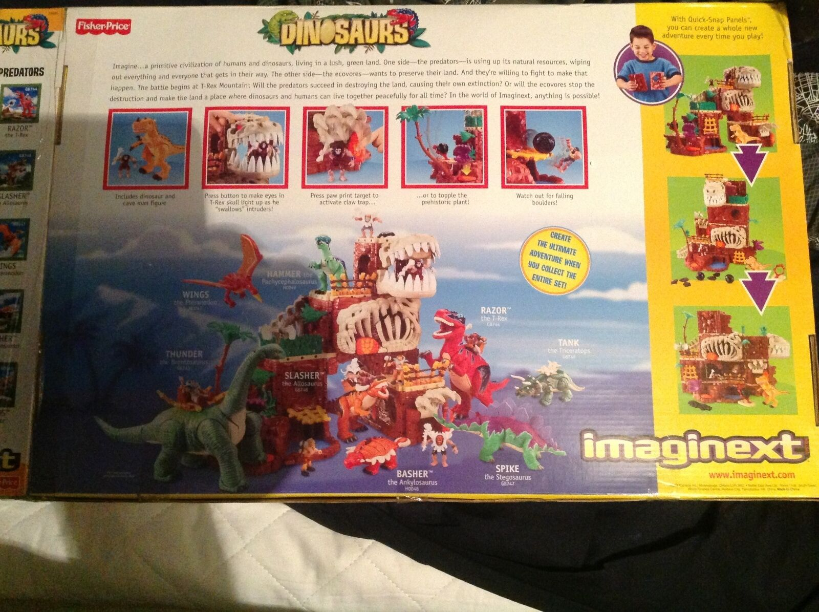Large imaginext t-rex mountain plus plus plus extras very old rare new sealed in box 4aa75f