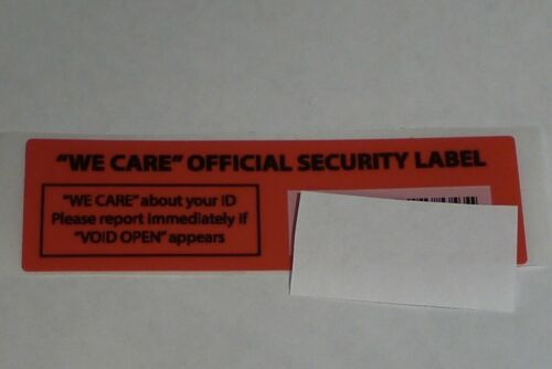 5x gas pump security label sticker we care official security label anti skimmer