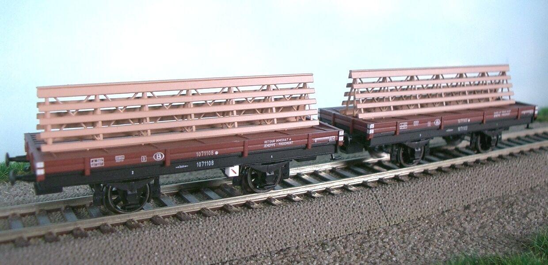 Goover Model 31002 SNCB NMBS set 2x schraagwagen 2-alineación. lklp marrón ep3 nuevo + embalaje original