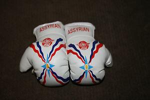 ASSYRIA ASSYRIAN FLAG Mini Boxing Gloves ORNAMENT *NEW*