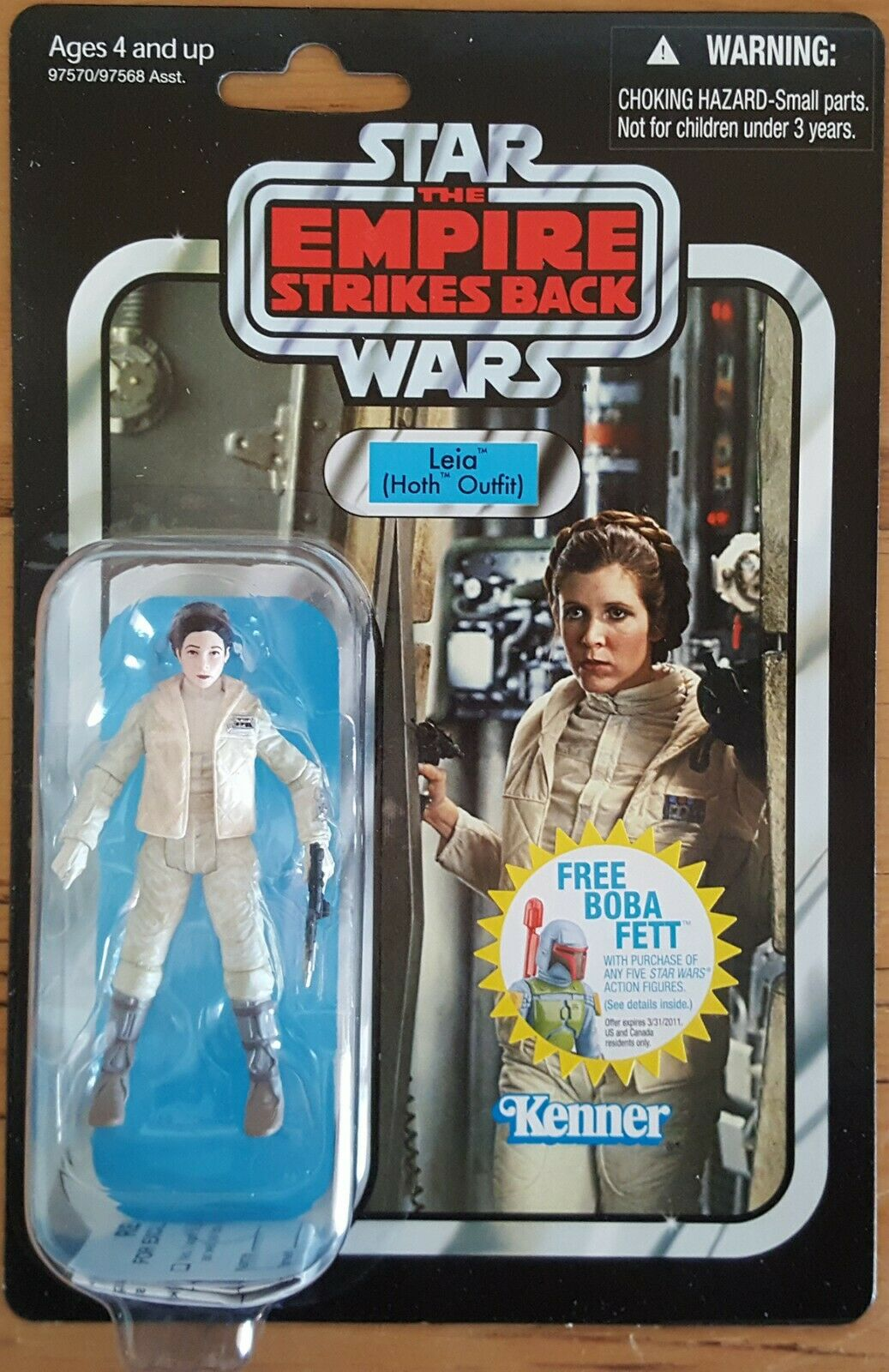 Star Wars Carded Leia (Hoth) VC02 Vintage Collection - NEW ORIGINAL 2010 RELEASE