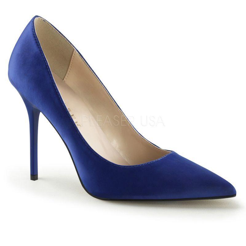 Pleaser classique - 20 Pump Bleu Velours Soirée Chaussure B ¸ RO Elegant danse sexy...