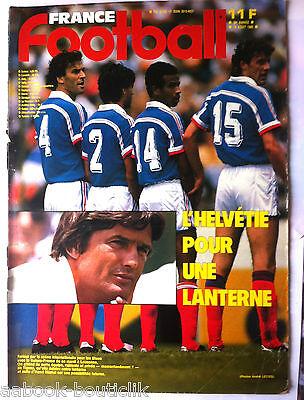 Ambitieus B)france Football 19/08/1986; Suisse-france/ Henri Michel/ Battiston/ Lorient Mooi En Kleurrijk