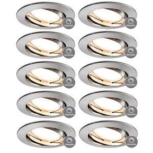10x-Paulmann-938-44-SMART-HOME-Einbauleuchte-Coin-LED-5W-Eisen-geb-App-Steuerung