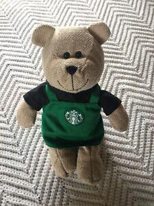 Starbucks-Limited-Edition-2016-Bearista-Teddy-Bear-Plush-Barista-Green-Apron-EUC
