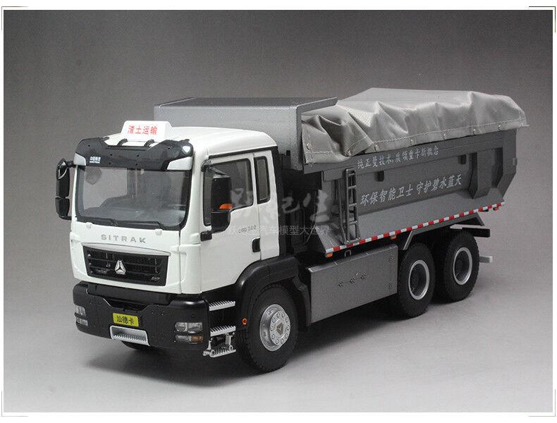 1 24 sitrak sinotruk MAN TG-un modelo Diecast HOWO Dump Camión C6G