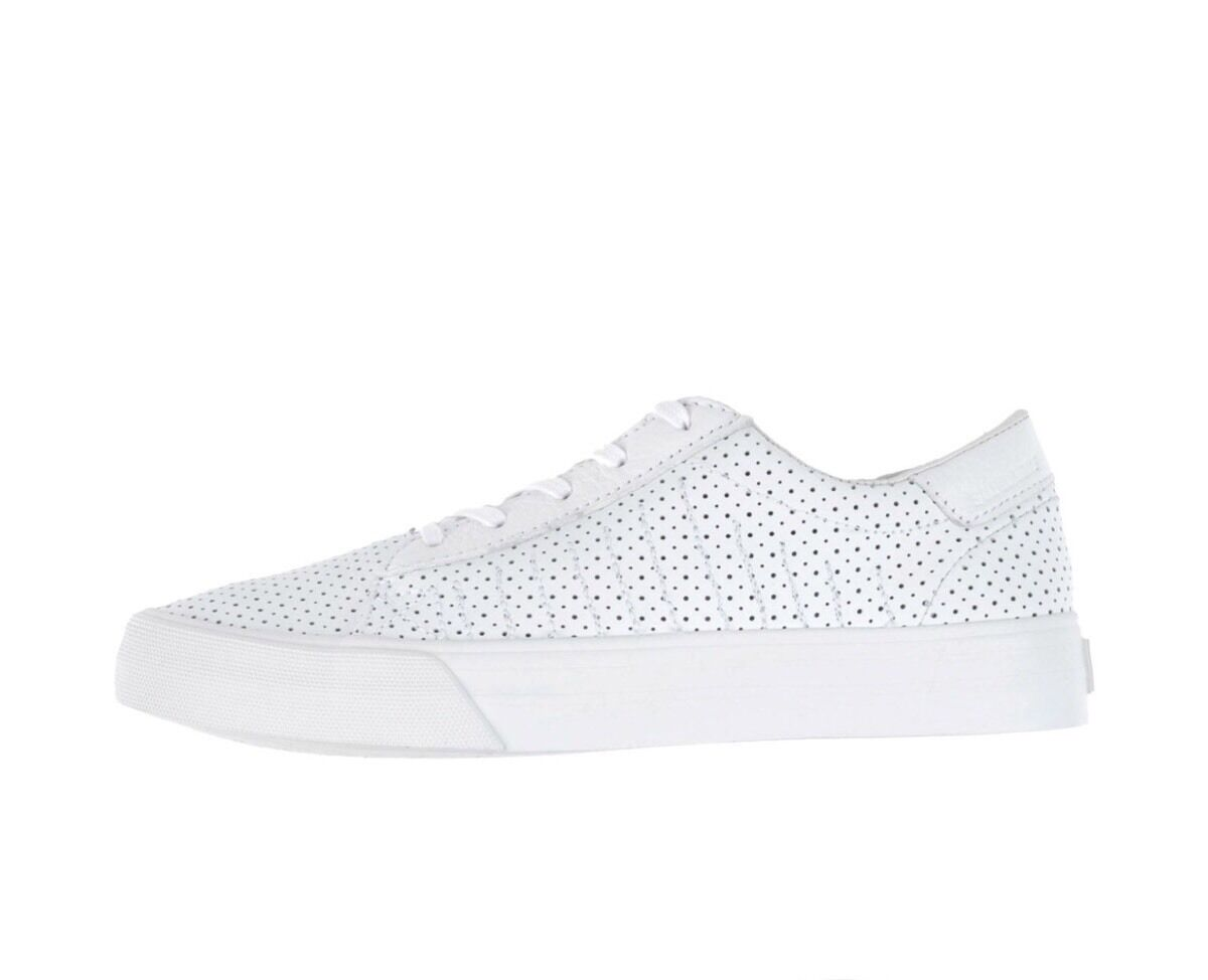 Supra Belmont Leather Skate Size Low Top White-White Sneakers Size Skate 7.5 6a9fa5