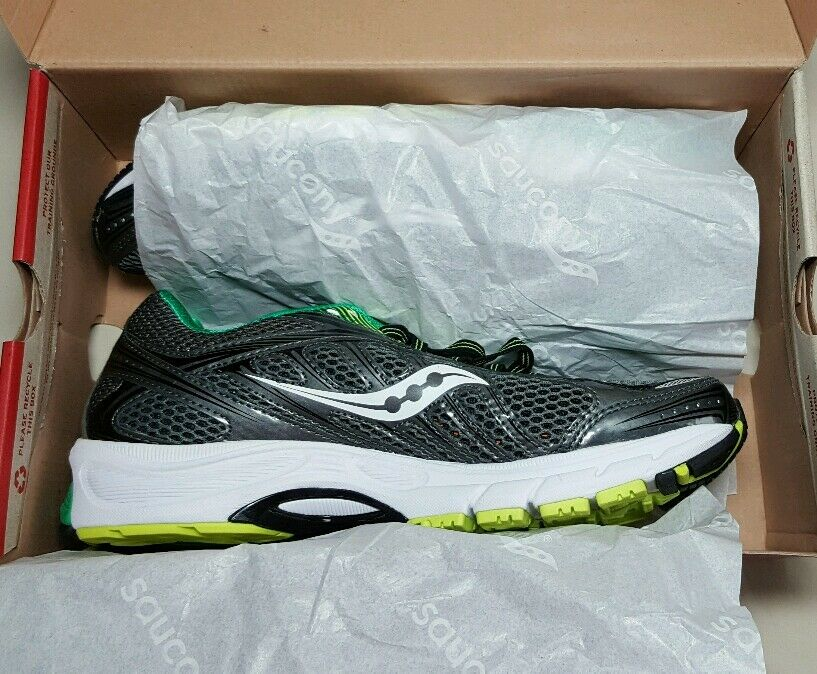 SAUCONY MEN'S RIDE 6 20200-4 GRAY/GREEN/CITRON NEW/BOX MULTIPLE SIZES