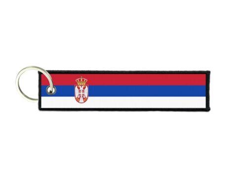 Schlüsselanhänger auto moto anhänger flagge fahne flaggen serbien