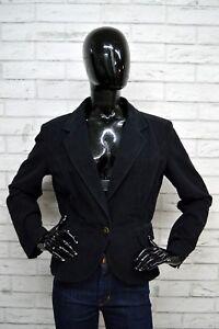 Giacca-Donna-JUST-CAVALLI-Taglia-Size-46-Jacket-Woman-Blazer-Black-Cotone