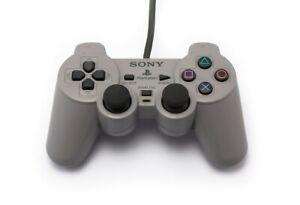 PS1-Original-Sony-DualShock-Controller-grau-SCPH-1200-sehr-guter-Zustand