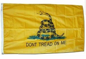 3x5 ft Dont Tread on Me Yellow Gadsden Flag Tea Party Banner Historical Pennant