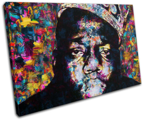 Notorious BIG Biggie Iconic Celebrities SINGLE CANVAS WALL ART Picture Print