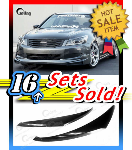 *CARKING* for HONDA ACCORD 8th UNPAINTED HEADLIGHT COVERS EYELIDS EYEBROWS 08-12