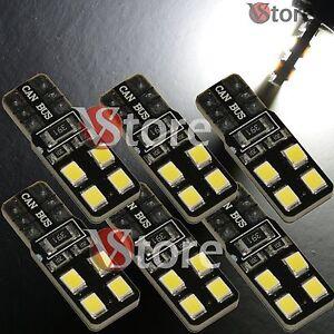 6-LED-T10-Lampade-8-SMD-2835-Canbus-Bianco-No-Errore-Luci-Posizione-Xenon-Targa