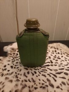 US Military Plastic Canteen with Green Cover